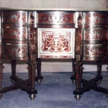 Louis XIV style Desk with Boulle marquetry from the 17th century (1)