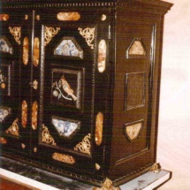 Florentine cabinet with stone inset from 17th century