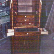 French transitional style secretary desk (1)