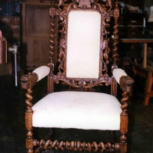 German armchair from the 17th century
