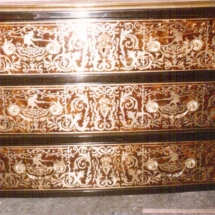 Louis XIV style commode in Boulle marquetry from 17th century 1