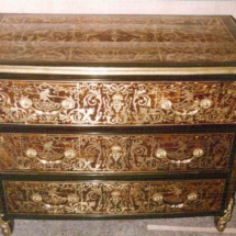 Louis XIV style commode in Boulle marquetry from 17th century 2