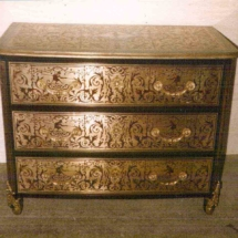 Louis XIV style commode in Boulle marquetry from 17th century (negative) 1