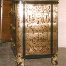 Louis XIV style commode in Boulle marquetry from 17th century (negative) 2