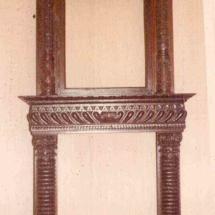 Renaissance style fireplace frame