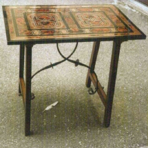Table in brass and tortoise shell from the 17th century