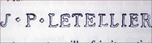 J. P. Letellier