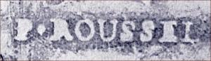 P. Roussel trace paper